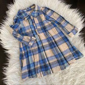 Gap Shirt Dress, Blue Plaid